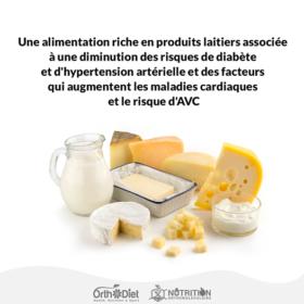 Une alimentation riche en produits laitiers associée à une..